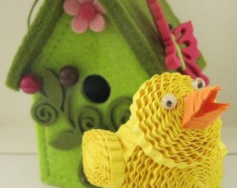 3D Easter chick / Easter decoration / Paper quilling ornament / 3d quilling / Easter gift