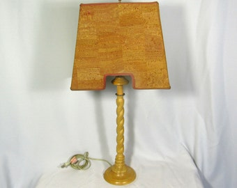 Lamp Shade Handmade Rare Custom Natural Cork for Table or Pendant NYC