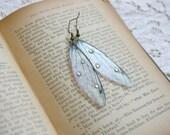 Fairy Wing Earrings, glitter, magical, ethereal, sparkle, iridescent, cyrstal, butterfly, cicada, fairytale, romantic