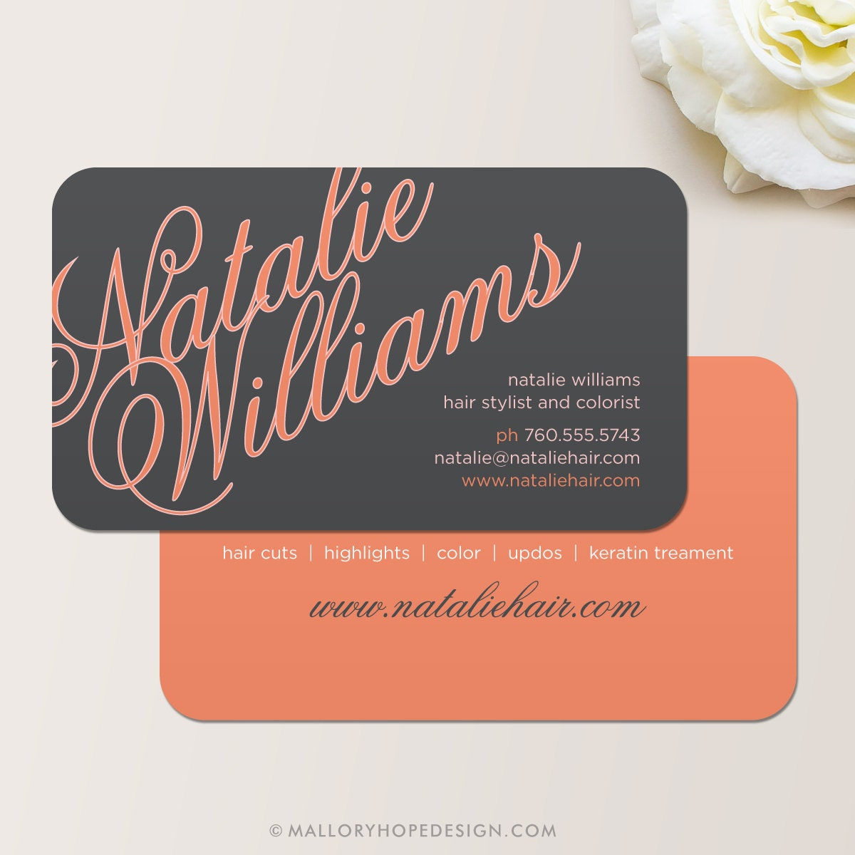Elegant name business card calling card mommy card zoom magicingreecefo Images