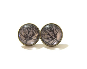 Tree Earring, Tree Earings, Tree Studs, Tree Stud Earrings, Stud Earring, Clip On Earring, Stud Earings, Tree Silhouette, Tree Jewelry
