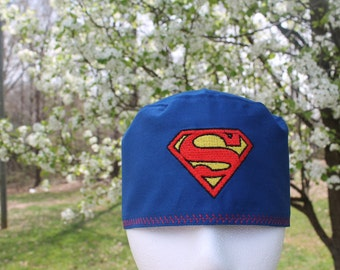 Mens scrub hat/ Superman