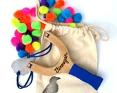 PomPom Slingshot Personalized, Classic Wooden Waldorf Toy
