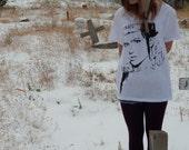 Oversized Black&White Grimes Shirt