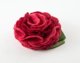 Red Poppy Dog Collar Flower