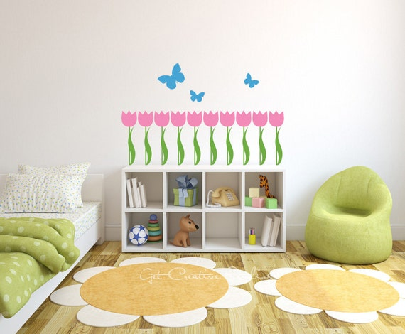 tulip border wall stickers - photo #17