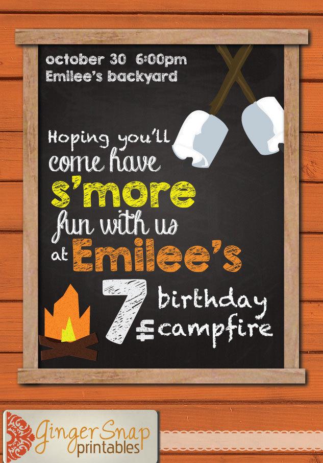 Free Bonfire Invitations for best invitation ideas