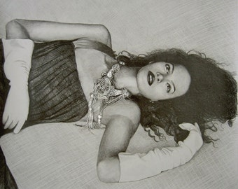 Pencil Drawing from Photo, 1 figure, delivery rolled in art tube (without frame)