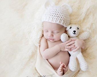 Honey Bun Hat newborn + twinning Newbornprop