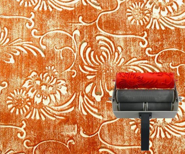 Rouleau peinture pochoir motifs fleurs par carriecla - Rouleau de peinture a motif ...