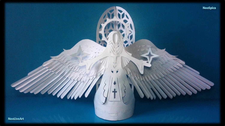 Как сделать оригами из бумаги ангелов