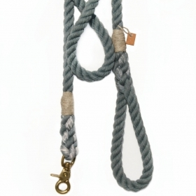 Dog leash, pet accessory, animal supplies: Grey rope leash