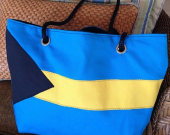 Bahamian Beach Bag, Nautical Tote