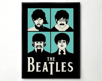 Beatles art, Beatles prints, Beatles posters, beatles room,music art, music prints.