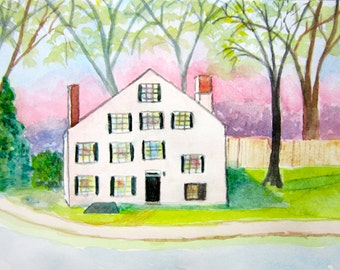 Original Watercolor Painting of The Shovel Shop