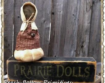 ePattern~Prairie Doll Pin Cushion
