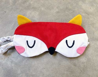 Fox Sleep Eye Mask, Fantastic Fox Mask, Fox sleep mask, sleeping mask, eyemask, cosplay mask, beauty sleep mask, Sleeping fox, RED FOX