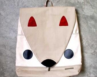 Squirrel Backpack, Squirrel Bag, Laptop Backpack, Laptop bag, Unisex Backpack, Diaper Backpack, Nutkin The Squirrel, Beige Cream Color