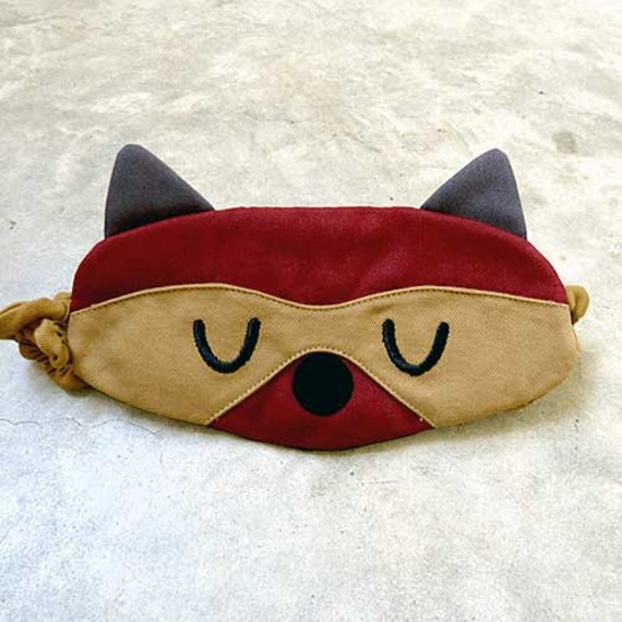 Raccoon Sleep Mask Raccoon Eye Mask Raccoon Sleeping Eyemask Raccoon Eye Mask