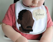 Omar Little Applique Baby Bib - Free shipping!