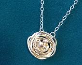 Silver Nest Necklace