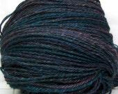 Yarn HandSpun Alpaca Silk yarn Northern Lights 164 yards Navajo 3ply yarn dk