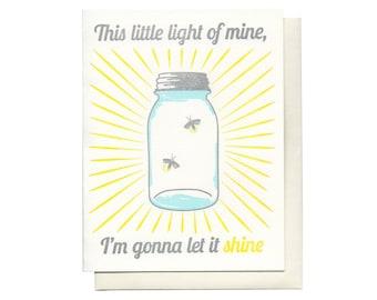This little light of mine letterpress card