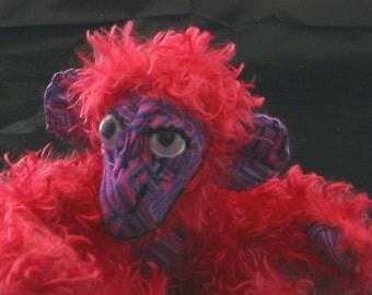 Custom plush Magic Mojo Minkey Monkey OOAK plush monkey