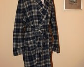 Vintage Plaid Pendleton Robe, Size Medium