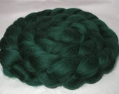 PINE GREEN, merino wool roving spinning fiber, super soft, 20 micron, wet/nuno/needle felting, dolls hair, combed top, dreads, 100g, 3.5oz
