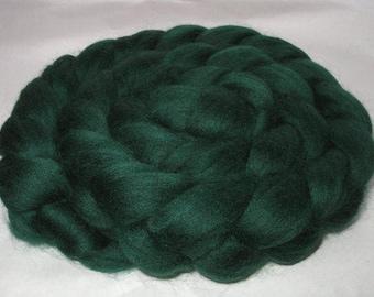PINE GREEN, merino roving, roving for spinning, roving for felting, 20 micron, wool for nuno felting, dolls hair, dreads, 100g, 3.5oz