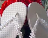Decorative Floral Flip Flops - Wedding, Bridal, Bridesmaids, Flower Girl, Etc.