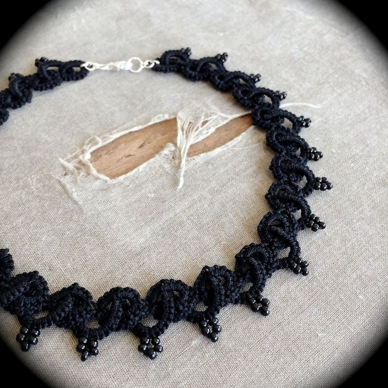 https://www.etsy.com/listing/175636488/tatted-lace-choker-necklace-woven-and?