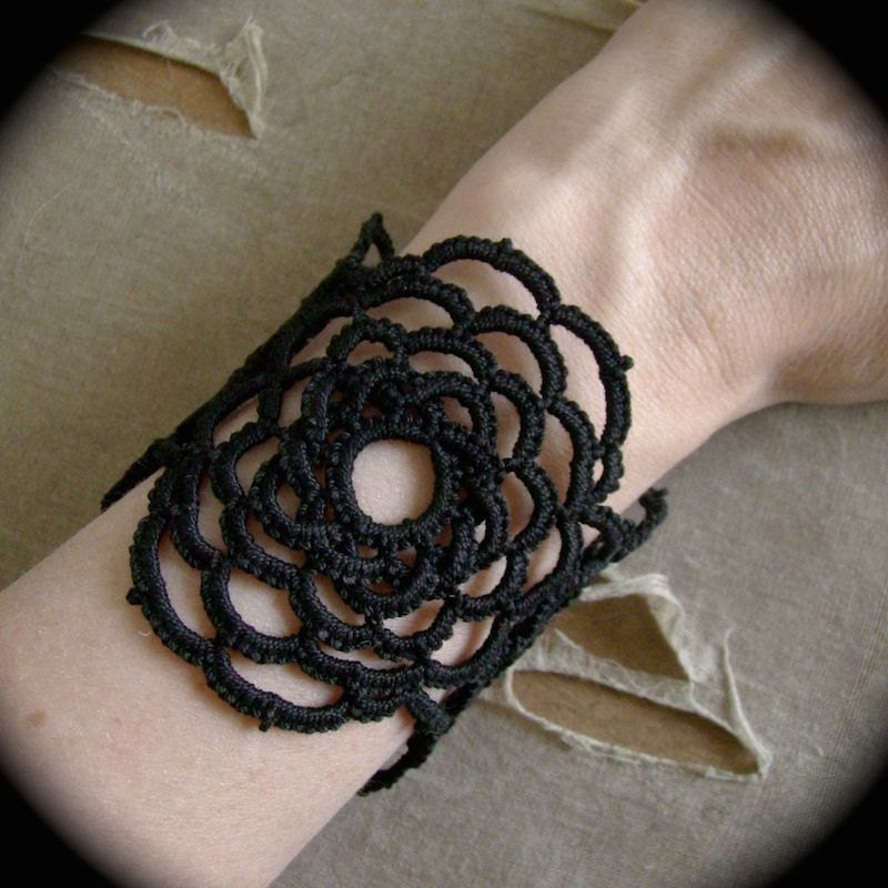 https://www.etsy.com/listing/191336514/tatted-lace-cuff-bracelet-woven-rose?