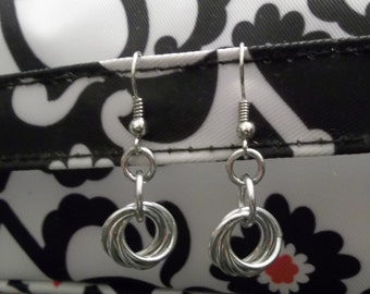 Mobious Love Knot Chainmaille Earrings