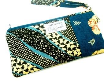 Fabric Wallet Wristlet, Womens Wristlet Purse, Large Wristlet, Ladies Wallet Purse, Wrist Wallet