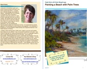 Pastel Painting Lesson Demo PDF How to Paint the BEACH  Art Tutorial booklet, clouds,sand,palms