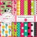 50% off Ladybug Digital Papers 16 high resolution jpgs with polka dots, INStANT DOWNLOAD