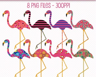 Flamingos Clip Art, Fancy Flamingos, Decorated Flamingos, Flamingos Graphics, Cute Clip Art, Flamingo Clipart, Pink Flamingos, Art Patterns