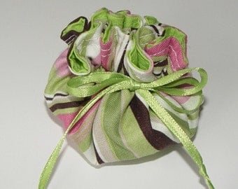 Mini jewelry pouch party favor gift bag fabric gift wrap drawstring pouch