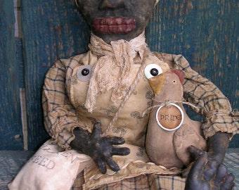 Primitive Mammy Doll with Chicken Doll Pattern-SPPO Henrietta & Pride
