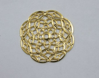 30mm Filigree #21 Gold (2 Pieces)