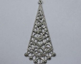 55mm Filigree #24 Silver (2 Pieces)