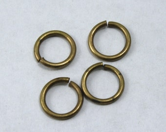 8mm Antique Brass Jump Rings #RJA028