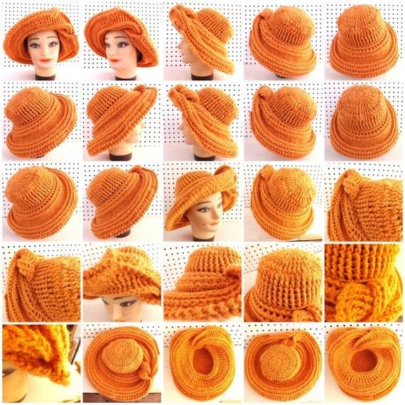 Womens Crochet Wide Brim Hat Pattern for Women, Crochet Pattern Hat, Womens Hat, Frontier Wide Brim Crochet Hat Pattern, Floppy Hat Pattern
