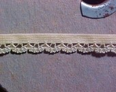 Elastic 3/8 Golden or Butter YELLOW Scalloped Lace Edge Dainty 38083 Lingerie Doll 5 yd