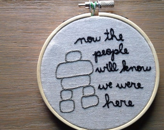 Inukshuk - Canadian Heritage Minute Embroidered