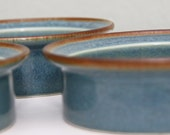 3 DANSK International Blue Turquoise Bowl Bowls Set Cereal Pasta Rimmed DENMARK