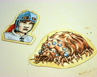 Nausicaa Magnet Set Illustration Studio Ghibli Fridge Anime