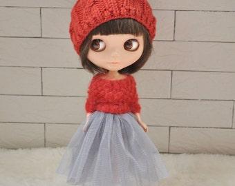 Babydoll TUTU Skirt for Blythe-Grey